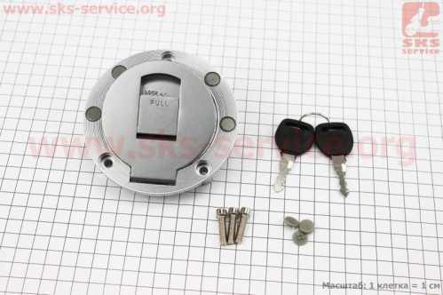 Крышка бака топливного круглая к-кт (корпус метал)