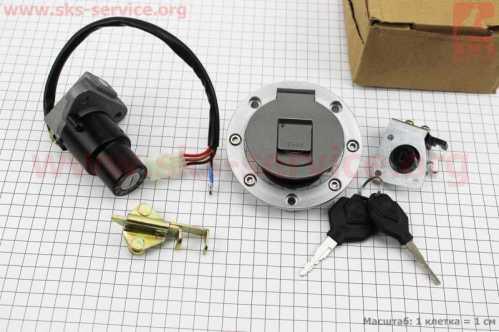 Viper - V200-F2/V250-F2 Замки к-кт (зажигания, крышка бака)