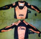 Мотокуртка KTM (текстиль) ( size:M, черно-оранжевая), шт