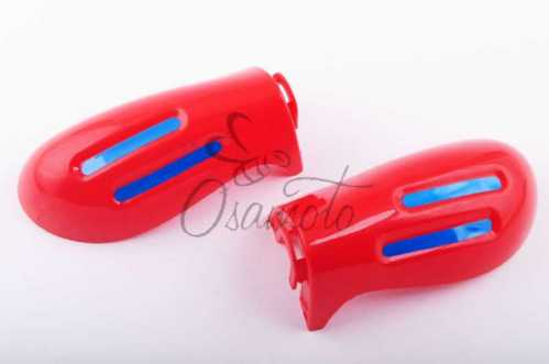 Защита рук на руль (mod:2, GLOVES, красные) XJB