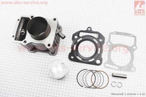 CG200-OHV Цилиндр к-кт (цпг) 200cc - 63,5мм - водяное охлаждение (палец 15мм)