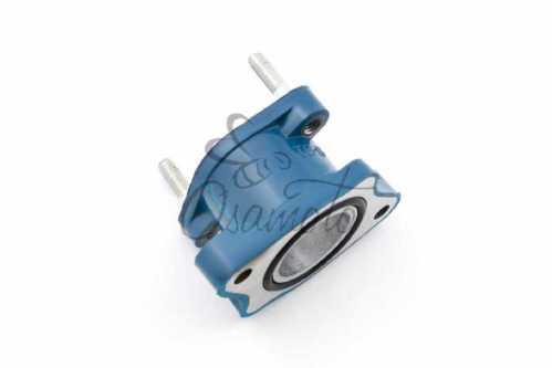 Патрубок карбюратора (коллектор) 4T CB 125/150 (синий) NJK, шт