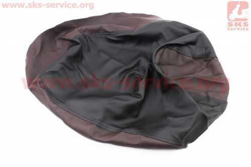 Чехол сидения Honda DIO AF34 (эластичный, прочный материал) черный/коричневый