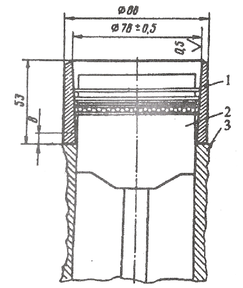 Оправка для установки поршня с кольцами и шатуном в цилиндр